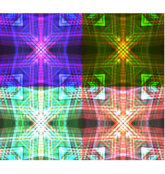 set of neon tribal textures vector image vector image