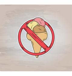 sign entry ban ice cream vector image