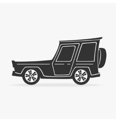 Symbol Cross Car vector image vector image