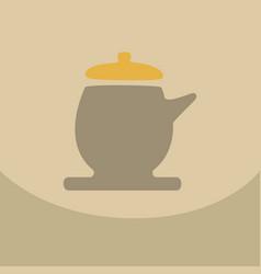 The teapot icon tea ceremony symbol flat vector