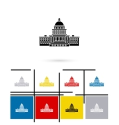United States Capitol icon vector image