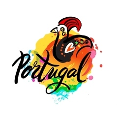 Portugal the travel destination logo vector