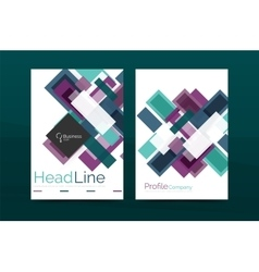 Straight lines geometric business report templates vector