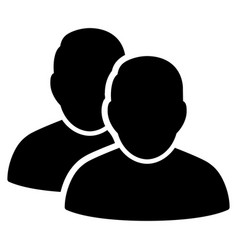 users flat icon vector image