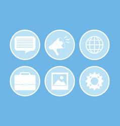 digital advertising and marketing vector image