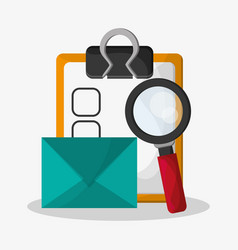 Web search related icons image vector
