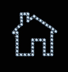 Diamond house icon vector