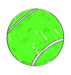 Retro tennis ball vector