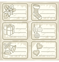 Christmas present tag design vector