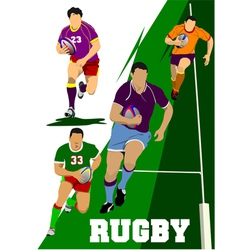Al 0442 rugby set vector