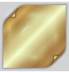 Abstract golden metallic rolled foil sheet vector