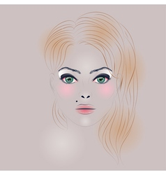 Fashion girl with hair2 vector