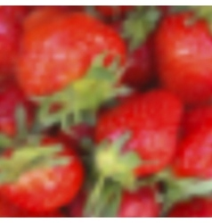 Blurred strawberries realistic background vector