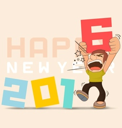 Funny 2016 new years vector