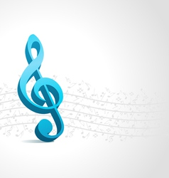 Treble clef music background vector
