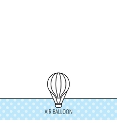 Air balloon icon fly transport sign vector
