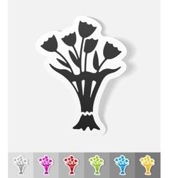 realistic design element bouquet of flowers vector image