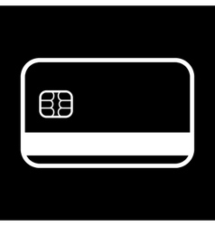 The credit card icon bank card symbol vector