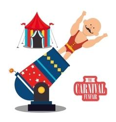 Circus carnival funfair vector image