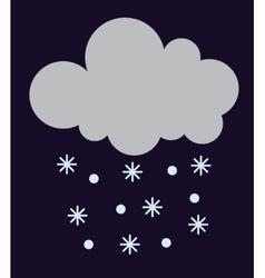 Snow cloud vector
