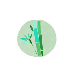 bamboo logo design vector image