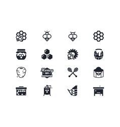 Beekeeping icons lyra series vector