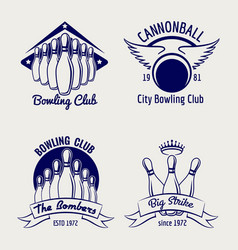 Bowling club logo design sketch vector