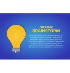 Bulb lamp light idea background vector