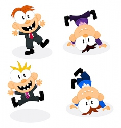 cartoon office personnel vector image vector image
