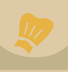 Chef cap icon kitchen hat items vector