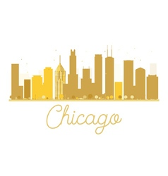 Chicago City skyline golden silhouette vector image