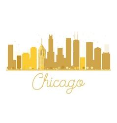 Chicago city skyline golden silhouette vector