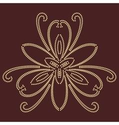 Damask oriental pattern vector