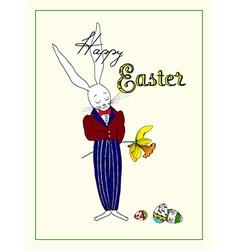 Easter Mr Rabbit vector image vector image