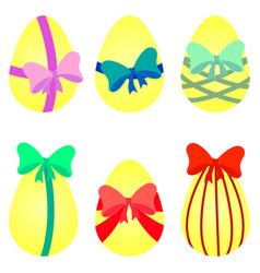 Eggs with bow vector