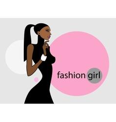 Fashion girl image vector image
