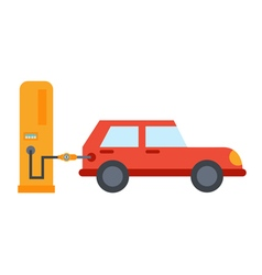 Flat car refuelling vector