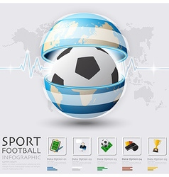 Global football and sport infographic vector