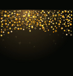 Gold stars Holiday background vector image
