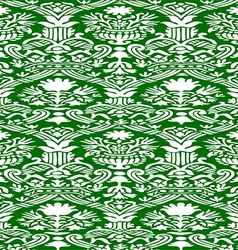 Green and white Seamless abstract background vector image