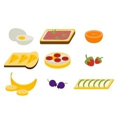 Healthy breakfast set vector