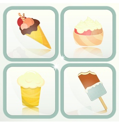 ice cream icons vector image vector image