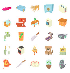 improvement icons set cartoon style vector image