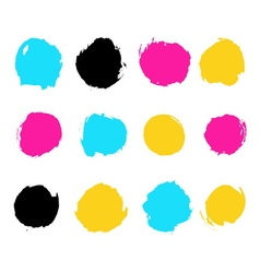 Ink drawn circles vector