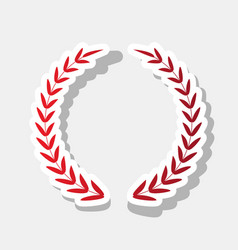 laurel wreath sign new year reddish icon vector image