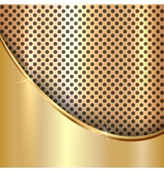 Metallic gold cell decorative background vector