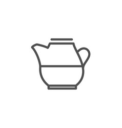 Milk jug for coffee icon fresh drink sign vector