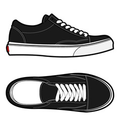 old school shoes vector image vector image