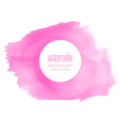 pink watercolor stain texture background vector image