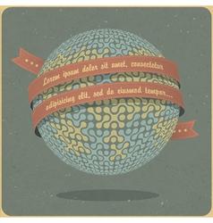 retro globe symbol vector image vector image